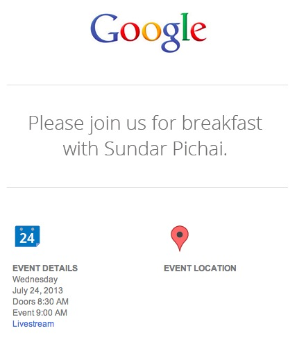 Google press invite July 24th