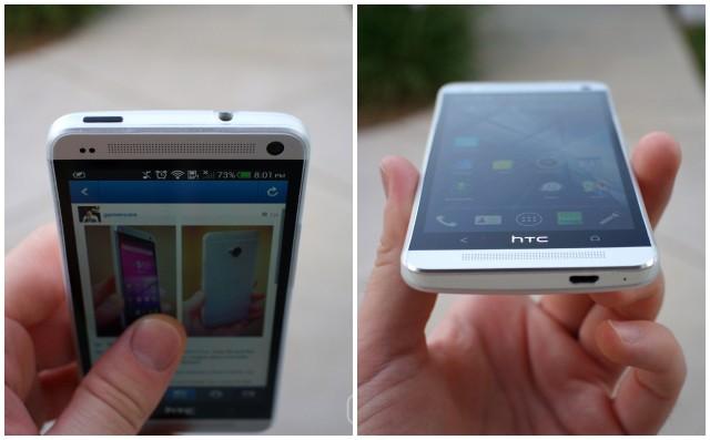 HTC One thin case top bottom