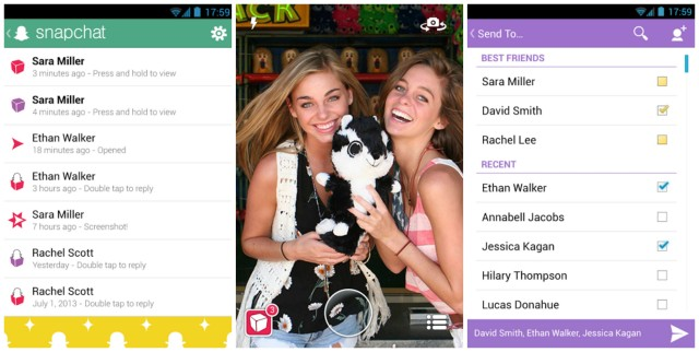 Snapchat for Android update