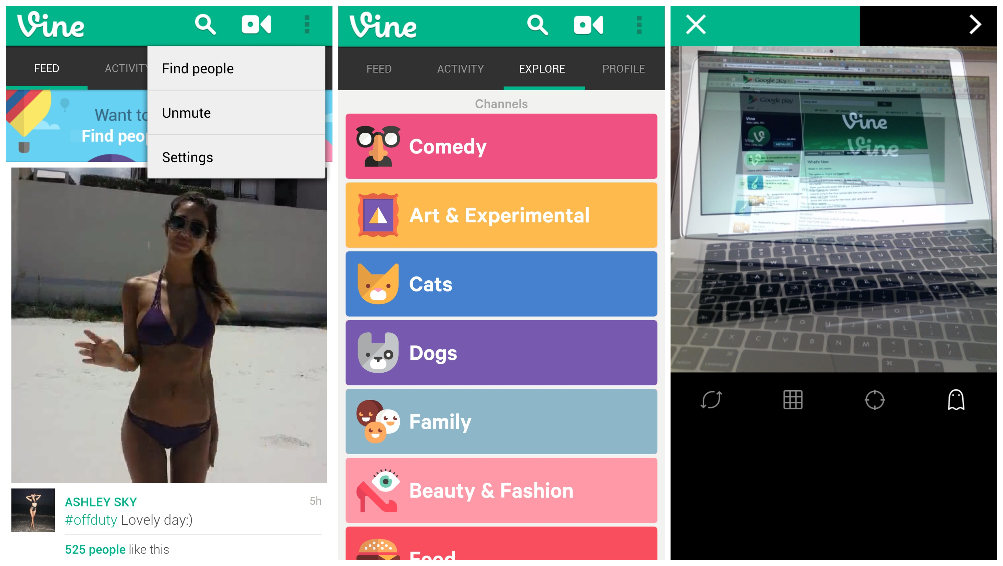 Vine For Android  Update
