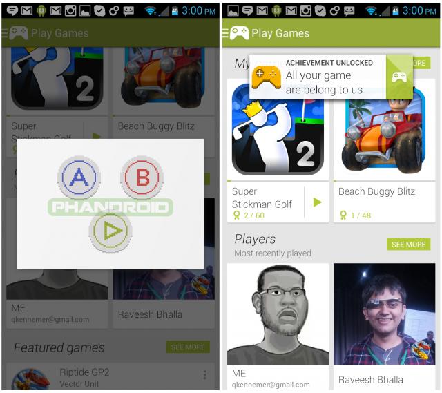 google play games konami code