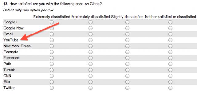 Google Glass Survey YouTube