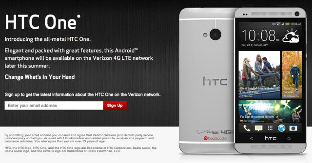 HTC One Verizon Wireless