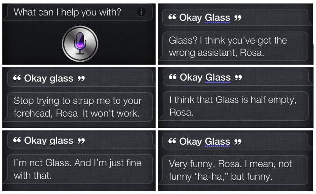 Ok Glass Siri remarks collage