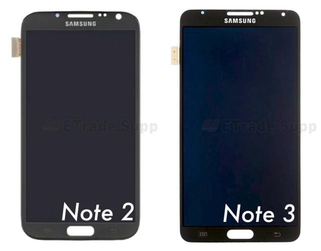 Samsung Galaxy Note 2 vs 3 display Phandrizzle