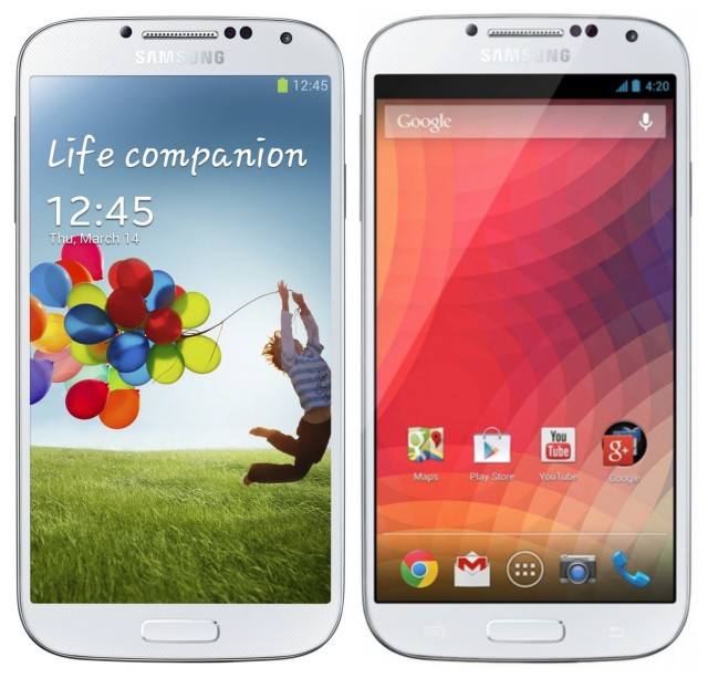 Samsung Galaxy S4 GPe and stock