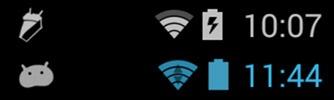 Android 4.4 4.3 debug icons