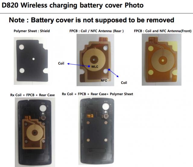 LG D820 FCC wireless charging cover Nexus 5