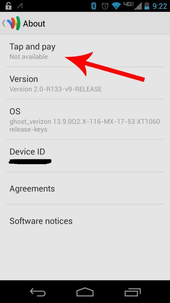 Verizon Moto X - No NFC Payments