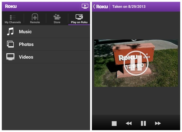 Roku Android update local streaming