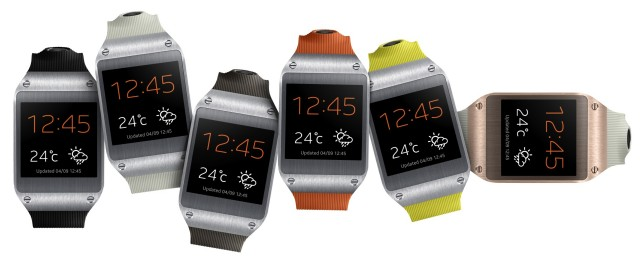 Samsung Galaxy Gear 6 colors horizontal