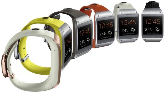 Samsung Galaxy Gear 6 colors side