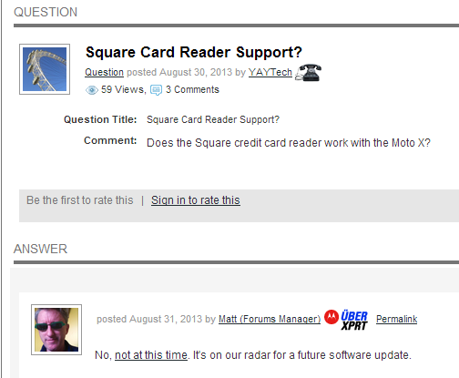 Square Support Soon