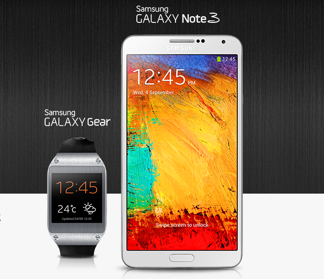 AT&T Samsung Galaxy Note 3 & Galaxy Gear release date set