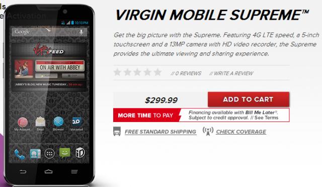virgin mobile supreme