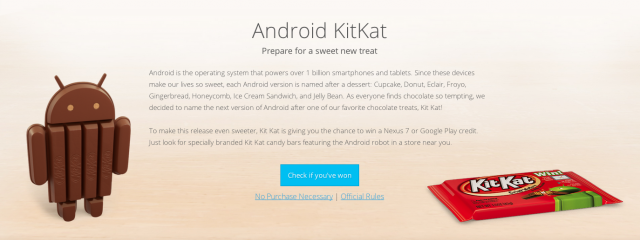 Android.com KitKat page