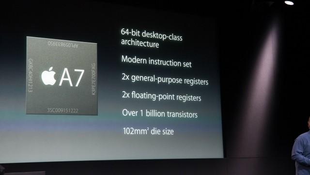Apple A7 slide