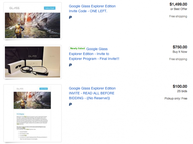 Google Glass 2.0 invites eBay