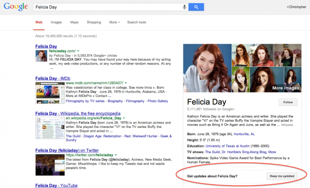 Google Now Knowledge Graph