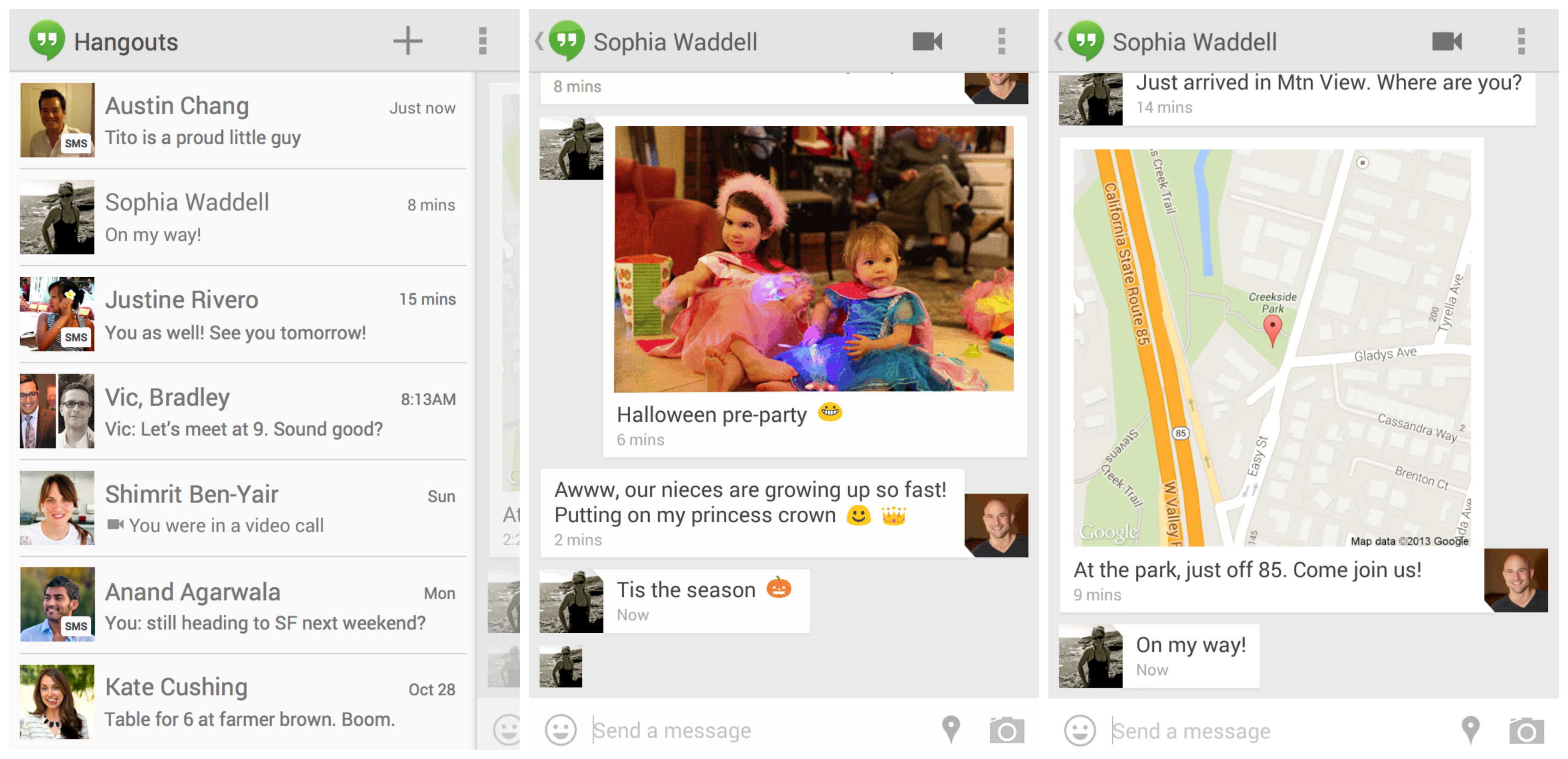 New Hangouts v2 will support SMS and MMS, but Google Voice