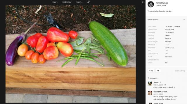 Nexus 5 vegetables camera sample