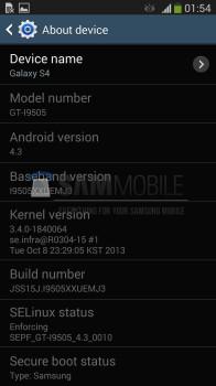 Samsung galaxy s4 43 update