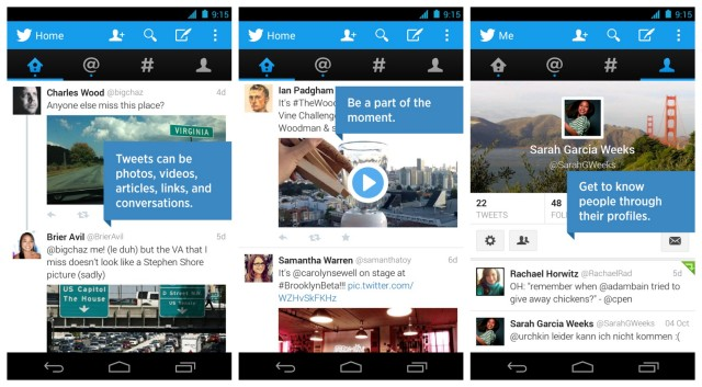Twitter app update Android