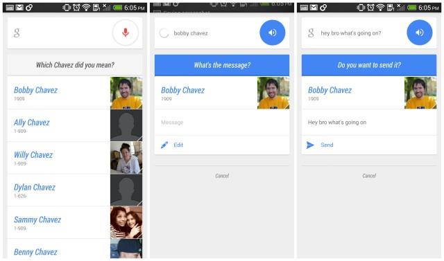 Google Search conversational dialog