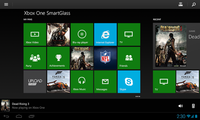 Xbox SmartGlass app for Android