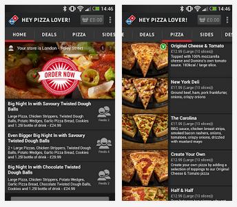 dominos new app