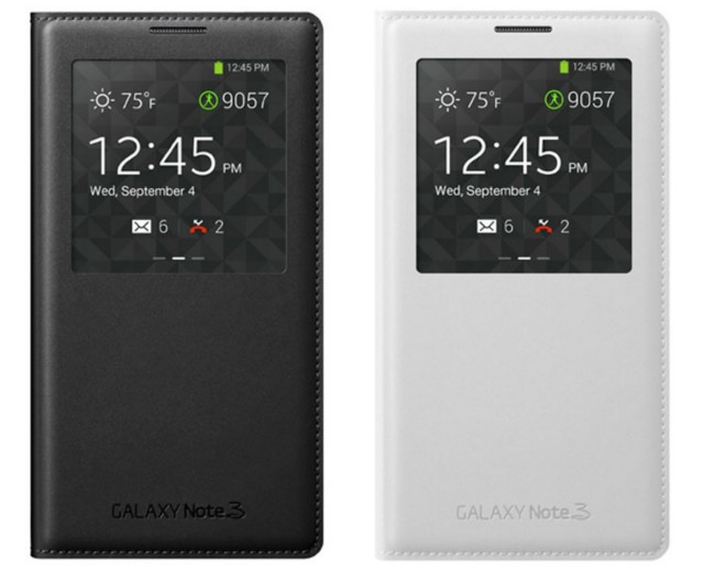 Galaxy Note 3 wireless charging s-view flip cover