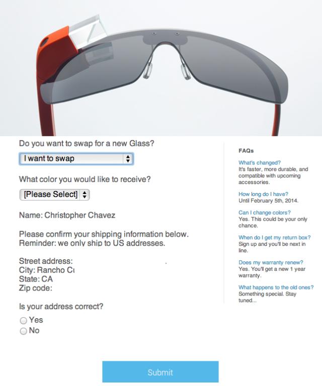 Glass Swap Details