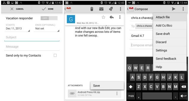 Gmail 4.7 update