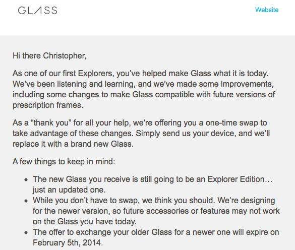 Google Glass swap instructions