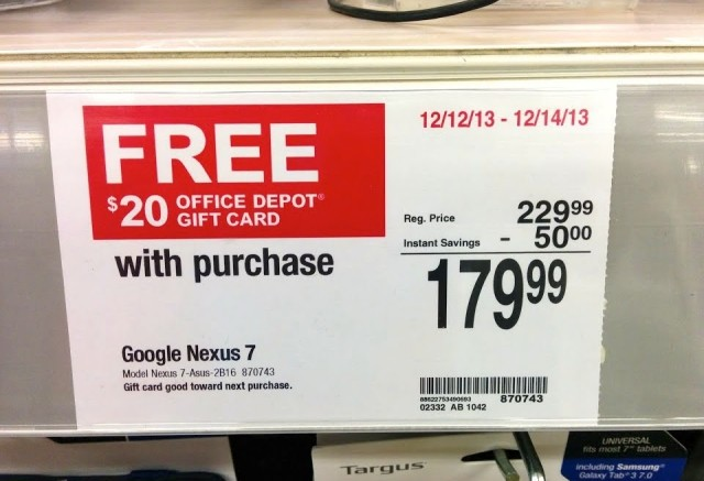 Office Depot Nexus 7