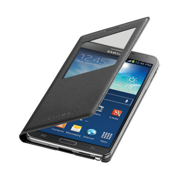 Samsung Galaxy Note 3 wireless charging s-view flip cover black