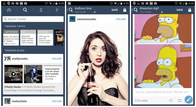 Tumblr for Android update Allison Brie