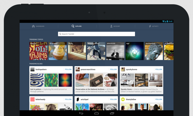 Tumblr search tablet