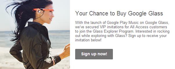 google play music google glass offer