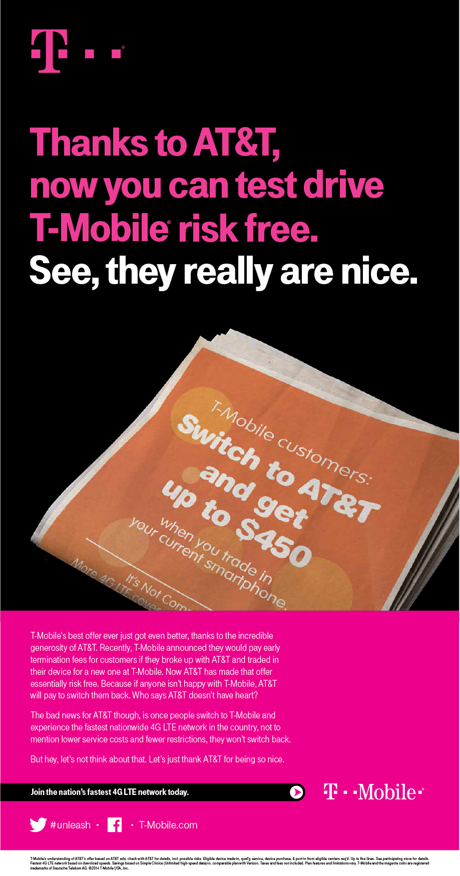 At&t Quote Tmobile's Offthewall Press Release Likens At&t Ceo To Darth Vader