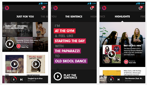 beats music shots