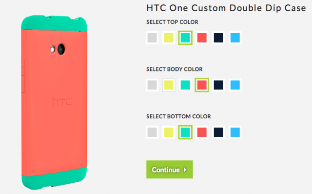 HTC One Double Dip case customizing tool