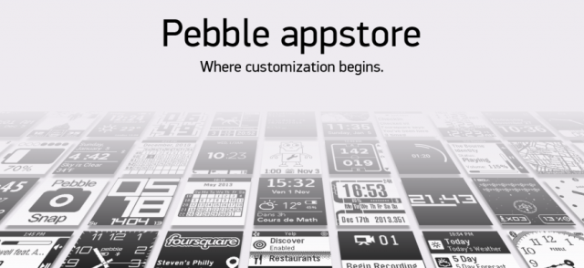 Pebble appstore banner