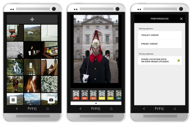 VSCO Cam 2.1 update Android collage