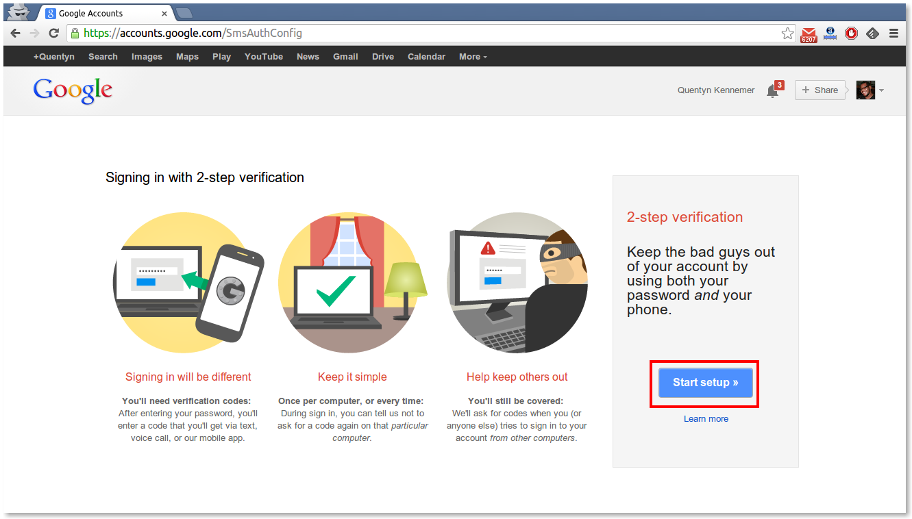 How To Setup 2 Step Verification To Secure Your Gmail Account