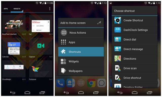 Android 4.4 KitKat Shortcuts