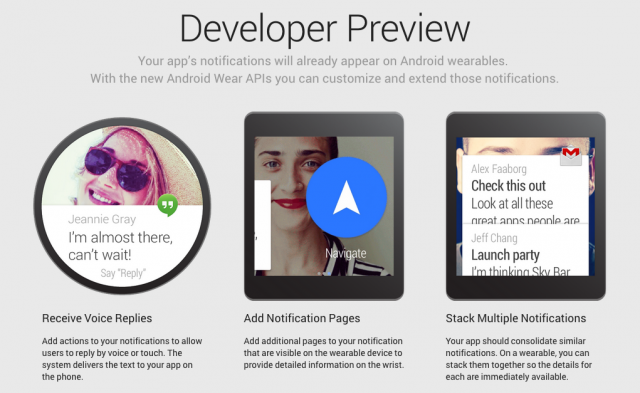 Android Wear Developer Preview