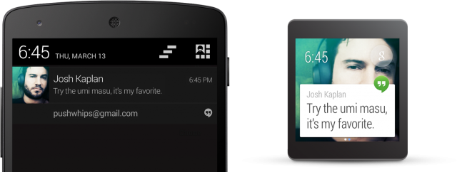 Android smartphone notification and Android Wear