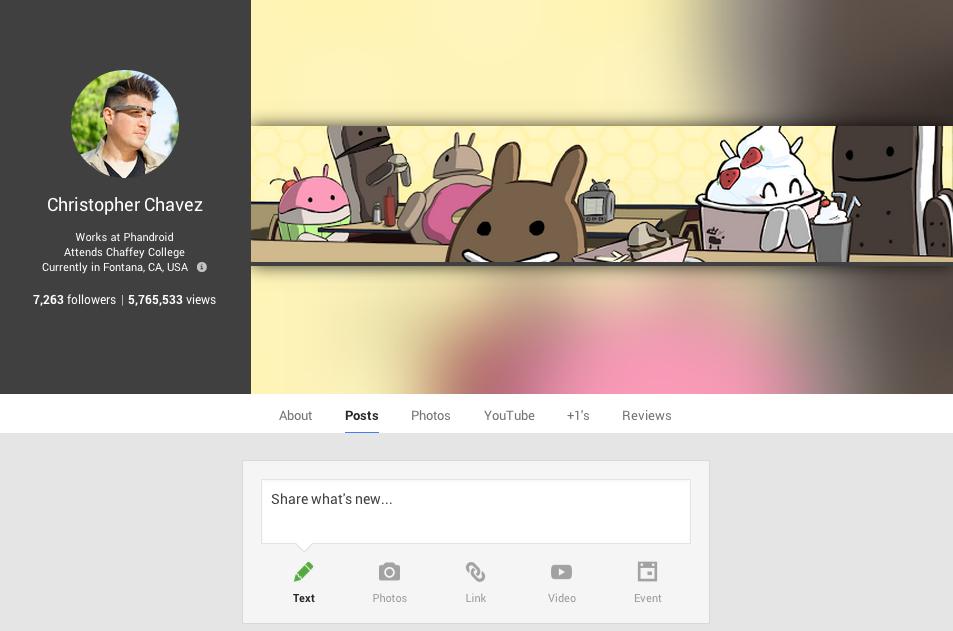 Google view profile
