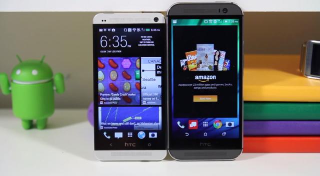 HTC One 2014 vs 2013 comparison video